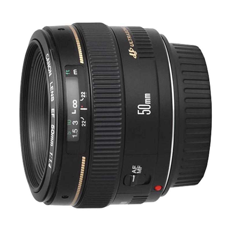 Canon EF 50mm F/1.4 USM Hitam Lensa Kamera ( RESMI PT DATASCRIP )