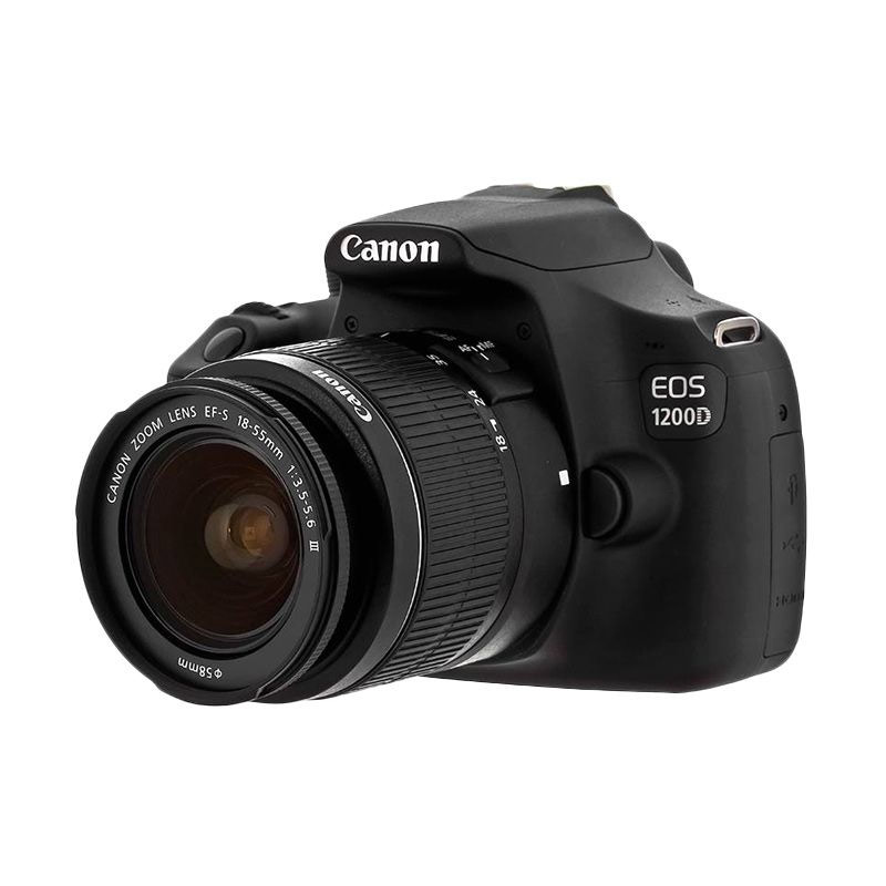 harga CANON EOS 1200D + EF-S 18-55 III Kit 18MP 9Point AF Full HD + SanDisk 8Gb Class4 + Screen Protector Blibli.com