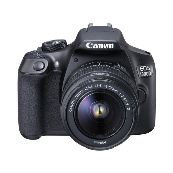 Canon EOS 1300D kit 18-55mm III Kamera DSLR Free Screenguard Terpasang + SDHC 16GB + Tas DSLR