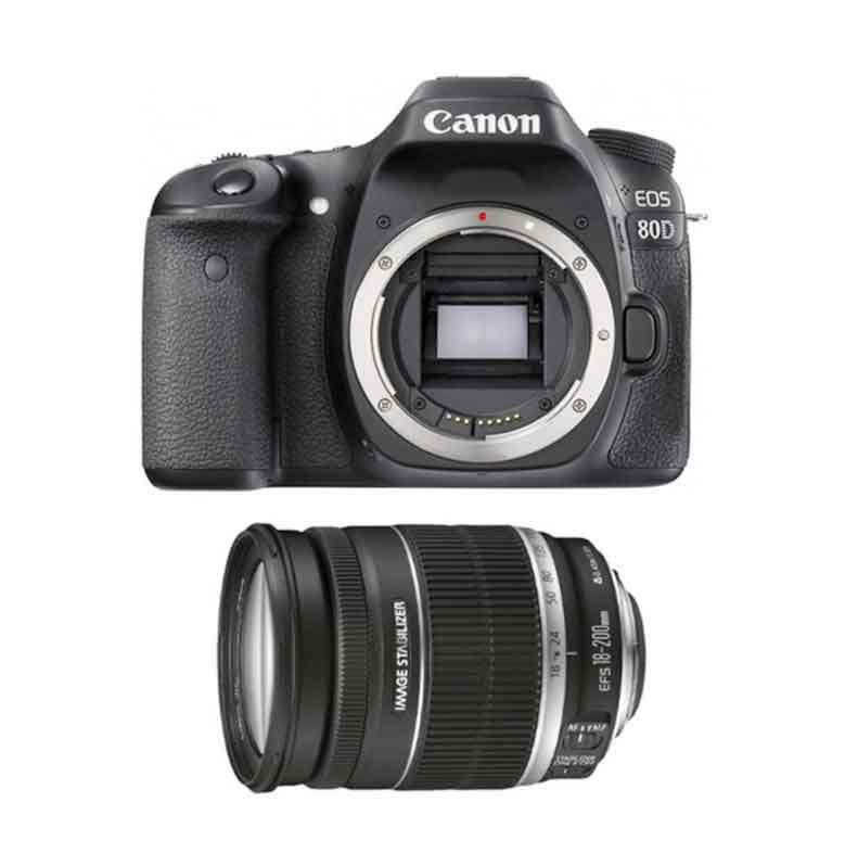Canon EOS 80D Kamera DSLR With 18-200mm Lensa
