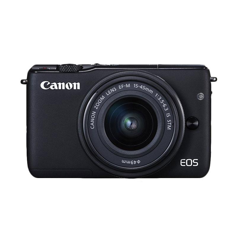 Canon EOS M10 Kit EF-M 15-45mm IS STM Kamera Mirrorless - Hitam + Boneka Pokemon ( RESMI PT DATASCRIP )