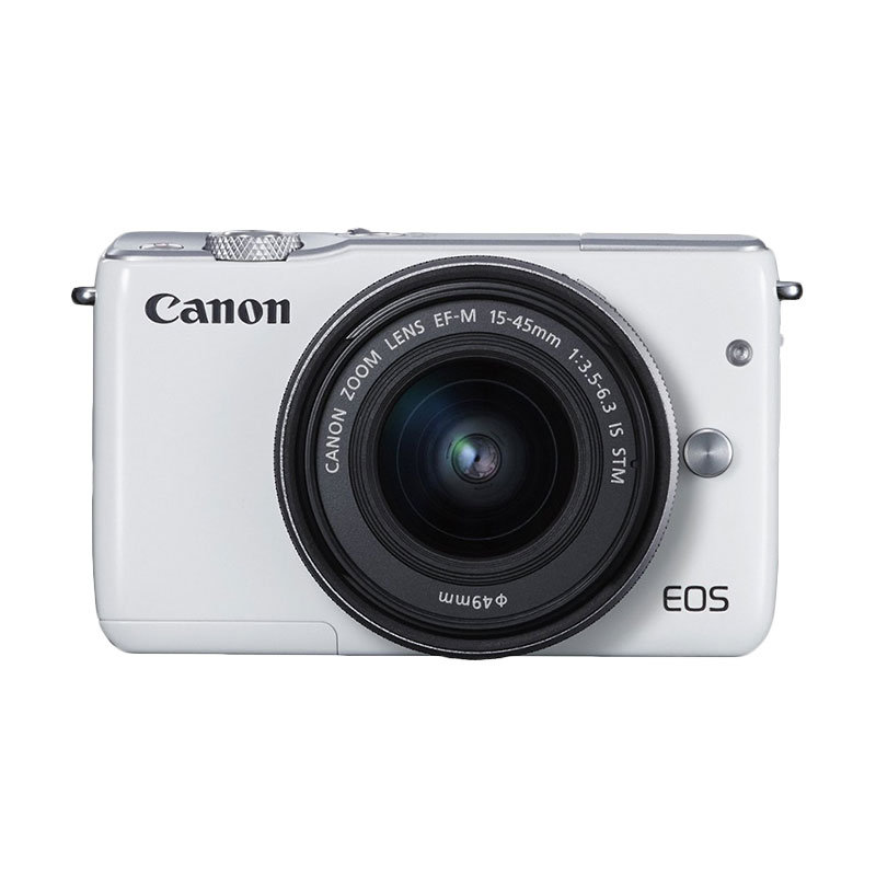 Canon EOS M10 Kit 1 15-45mm f/3.5-6.3 IS STM Putih Kamera Mirrorless + Screeguard Terpasang