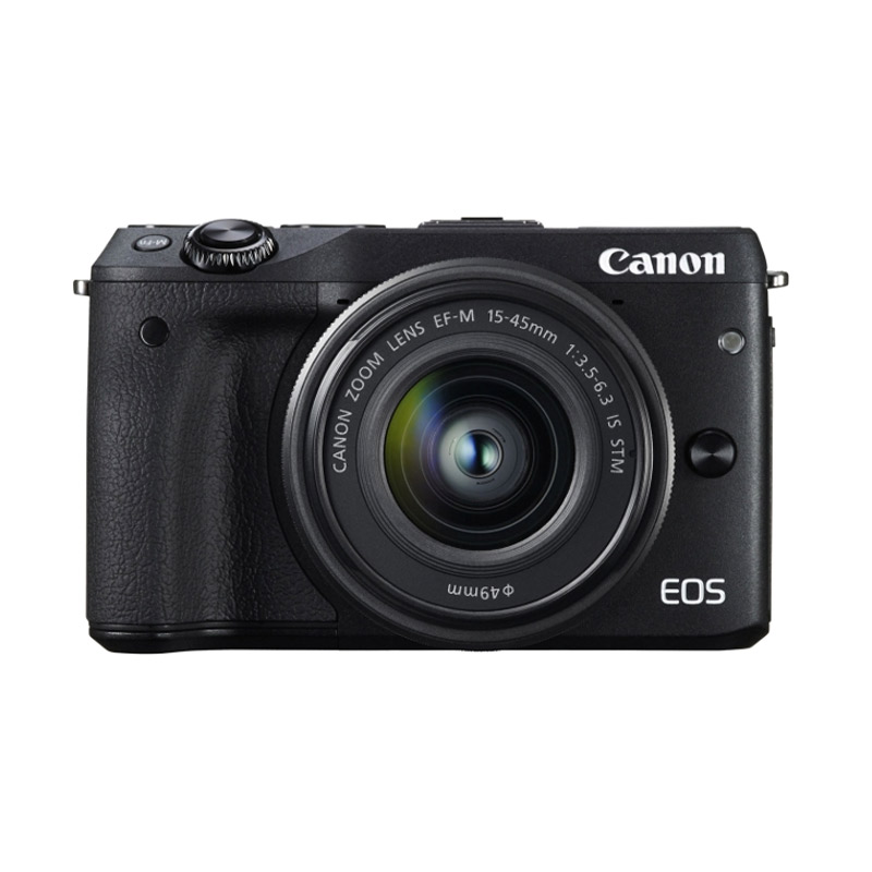 Canon EOS M3 Kit EF-M15-45 IS STM Kamera Mirorless - Hitam