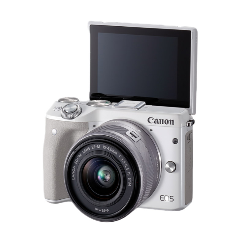 Canon EOS M3 KIT 15-45mm Kamera Mirrorless - Putih - 9305315 , 15663347 , 337_15663347 , 6875000 , Canon-EOS-M3-KIT-15-45mm-Kamera-Mirrorless-Putih-337_15663347 , blibli.com , Canon EOS M3 KIT 15-45mm Kamera Mirrorless - Putih