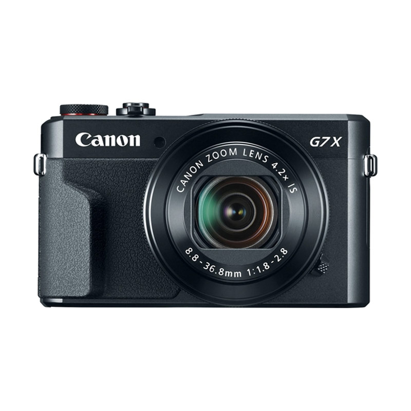 harga Canon PowerShot G7 X Mark II Kamera Pocket - Black + Free Waterproof Case WP-DC55 + LCD Screen Guard Blibli.com