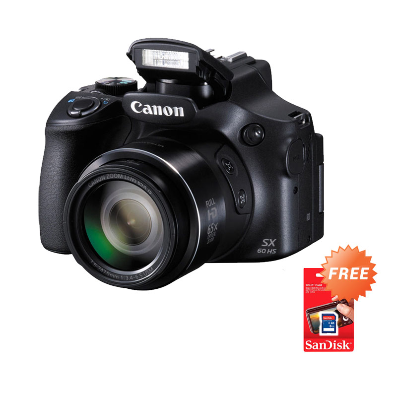 harga Canon PowerShot SX60 HS Kamera Digital [16 MP] + Free Sandisk SDHC 8 GB Blibli.com