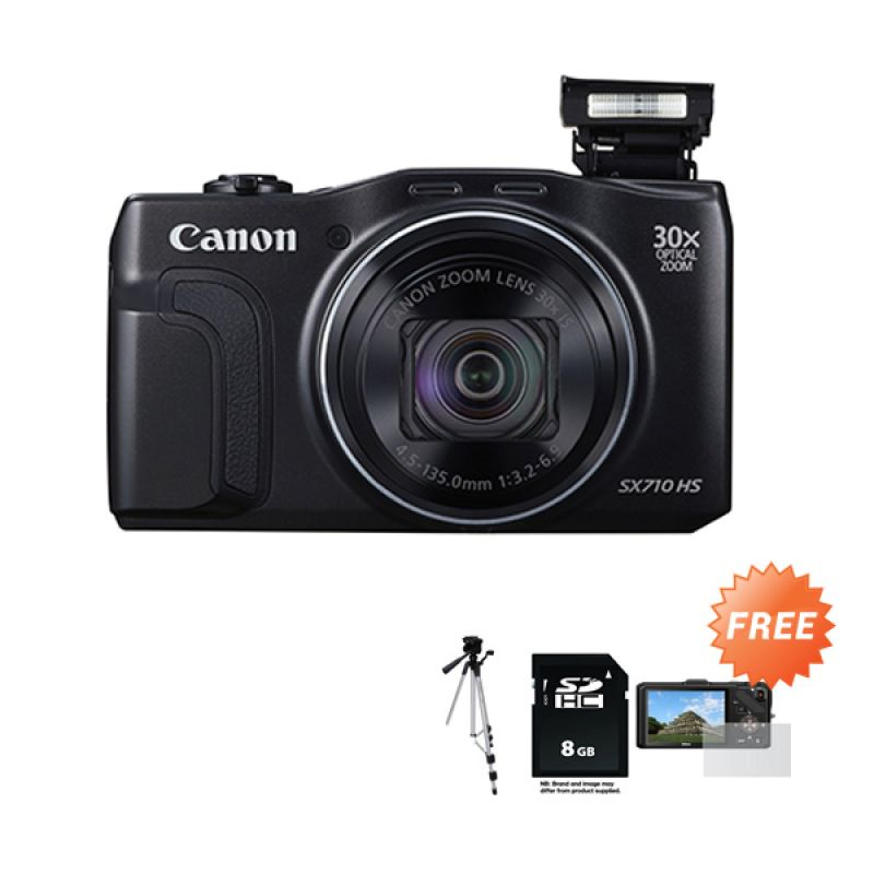 Canon PowerShot SX710 HS Kamera Pocket + Tripod + SDHC + Anti gores