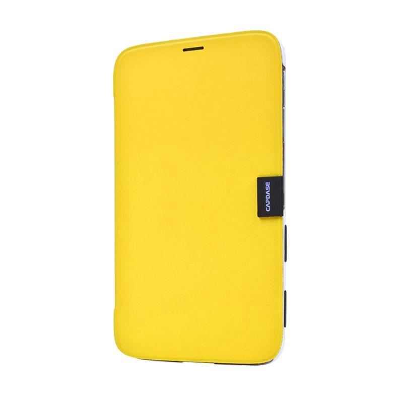 Capdase Karapace Jacket Sider Elli Kuning-Putih Samsung Galaxy Tab 3 [8 Inch]
