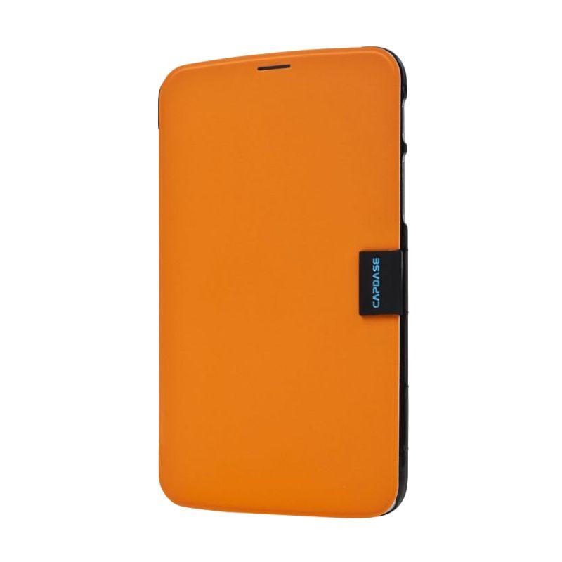 Capdase Karapace Jacket Sider Elli Orange-Hitam Samsung Galaxy Tab 3 [7 Inch]