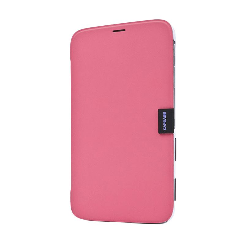 Capdase Karapace Jacket Sider Elli Pink White Casing for Samsung Galaxy Tab 3 [8 Inch]