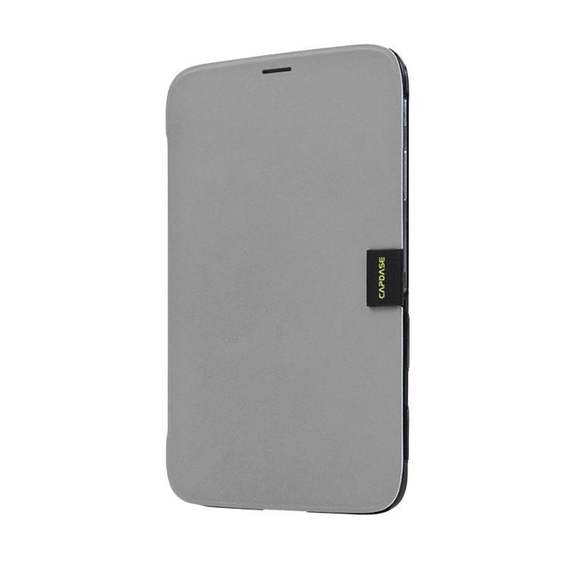 Capdase Karapace Jacket Sider Elli Abu-abu-Hitam Samsung Galaxy Tab 3 [8 Inch]