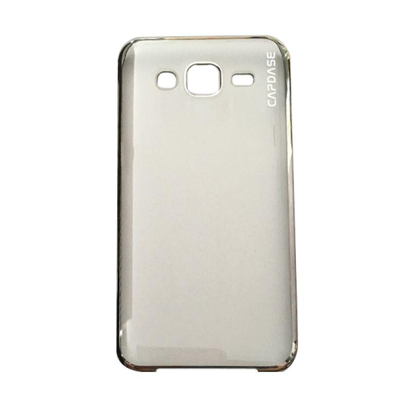 Capdase Karapace Jacket Meteor Silver Casing For Samsung Galaxy J7