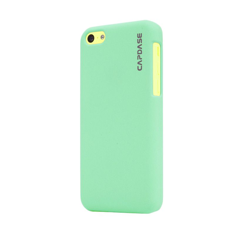 Capdase Karapace Jacket Touch Green Casing For iPhone 5C