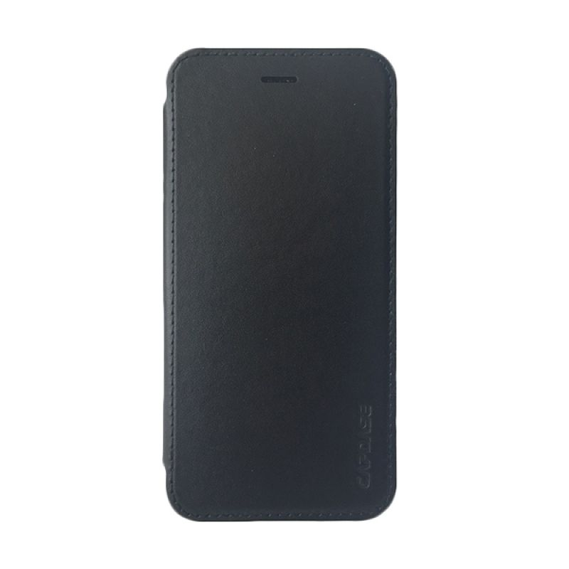 Capdase Posh Genuine Leather Flip Case Grey Black Casing For  iPhone 6/6s plus