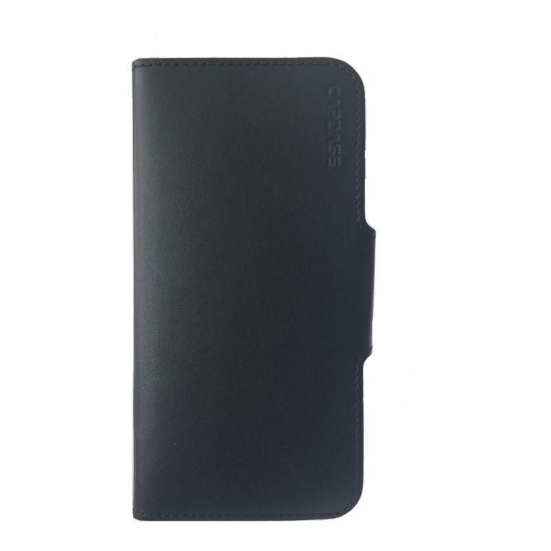Capdase Posh Genuine Leather Folio Case Grey Black Casing For  iPhone 6 plus/6s plus