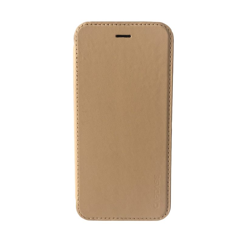 Capdase Posh Genuine Leather Silver Beige Flip Case iPhone 6 Plus/ 6s Plus
