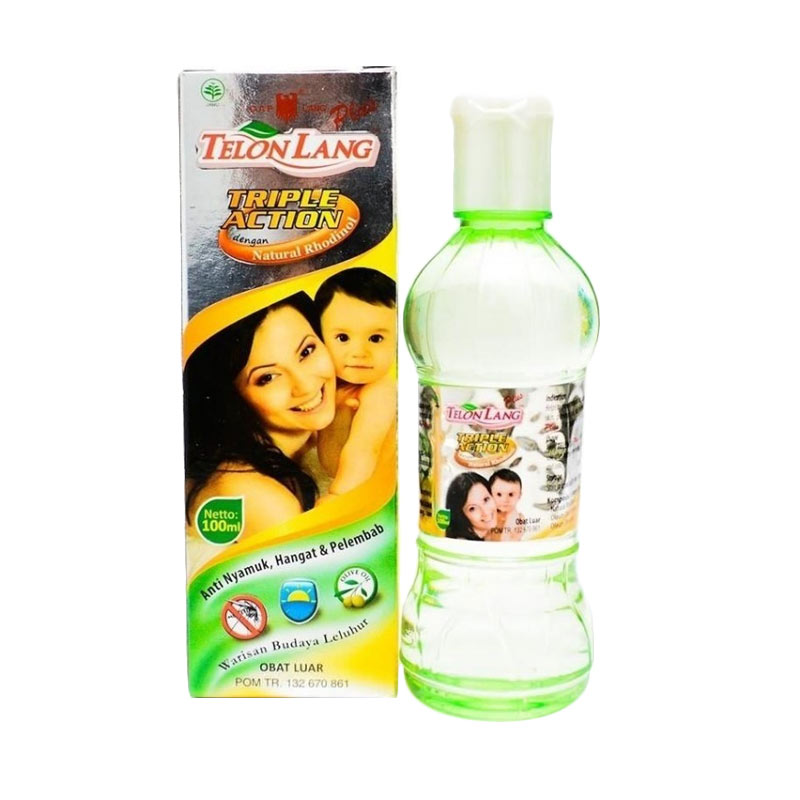 Caplang Minyak Telon Lang Plus Triple Action  [100 ml]