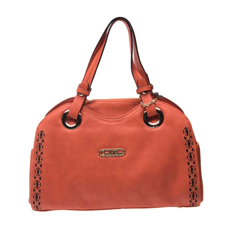 Carlo Rino Belicia Small Tote Bag Orange Tas Tangan