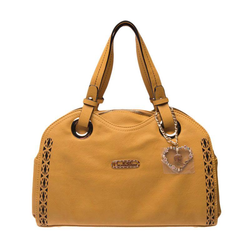 Carlo Rino Belicia Small Tote Bag Yellow Tas Tangan