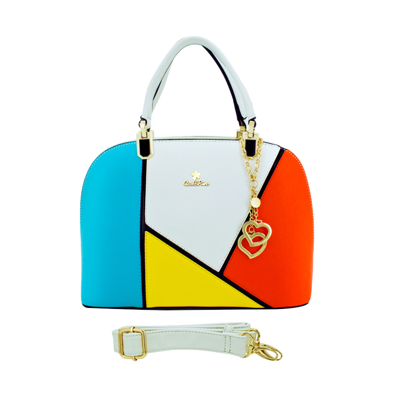 Carlo Rino Cora Medium Hand Bag - White