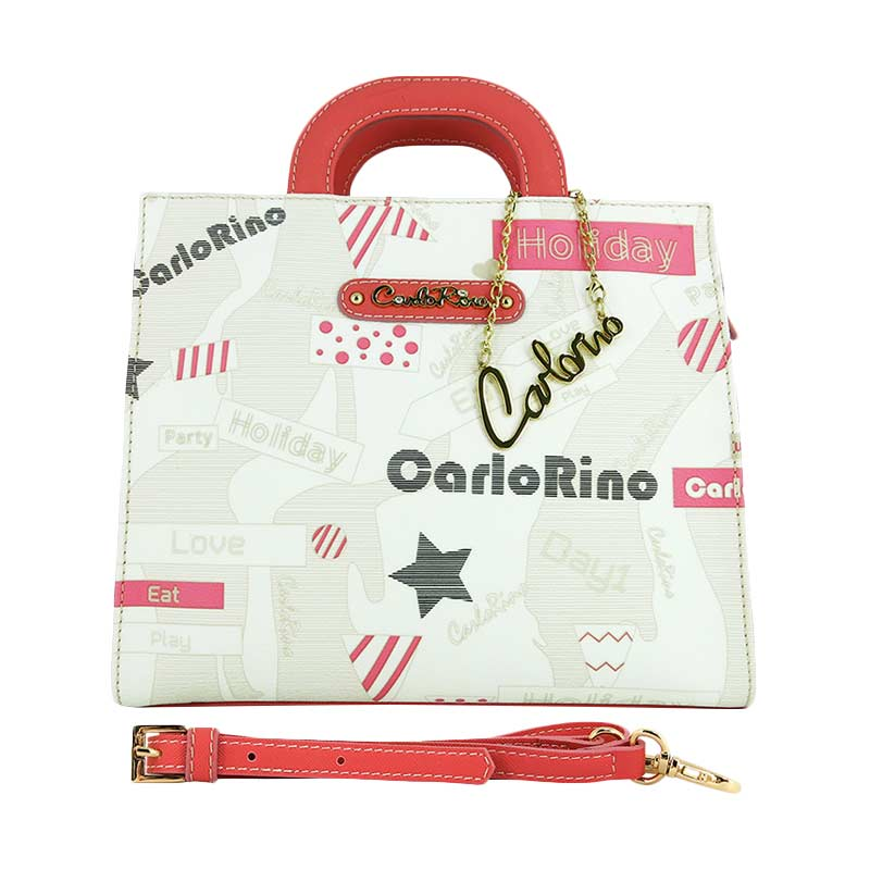 Carlo Rino Mandy Medium Handbag - White