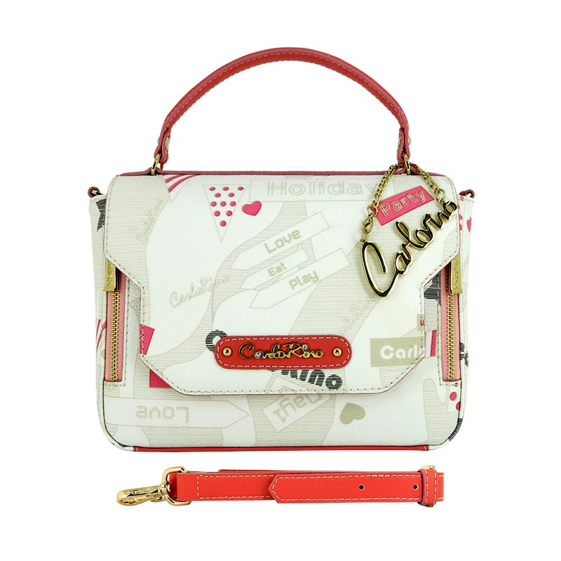 Carlo Rino Mandy Small Handbag - White