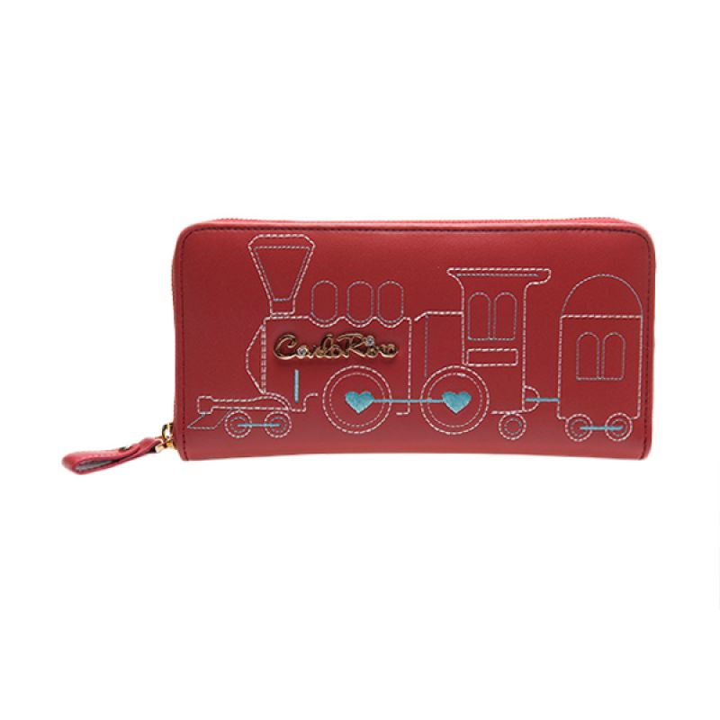 Carlo Rino Millie Zipper Red Dompet Wanita