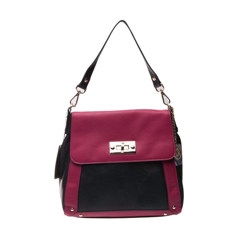 Renoma Ace Vinyl Medium Tote Bag Magenta Tas Tangan