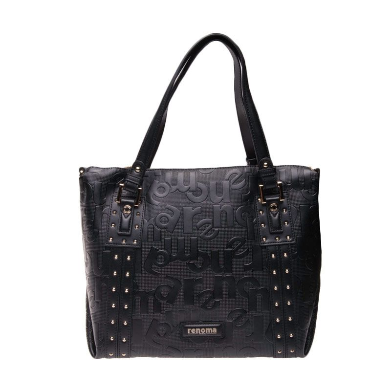 Renoma Trish Leather Large Tote Bag Black Tas Tangan
