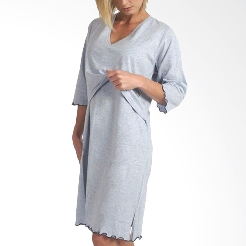 Carriwell Sarah Sleep Shirt Grey