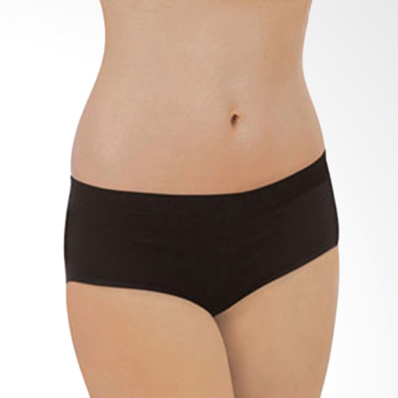 Carriwell Seamless Organic Cotton Comfort Panty Black
