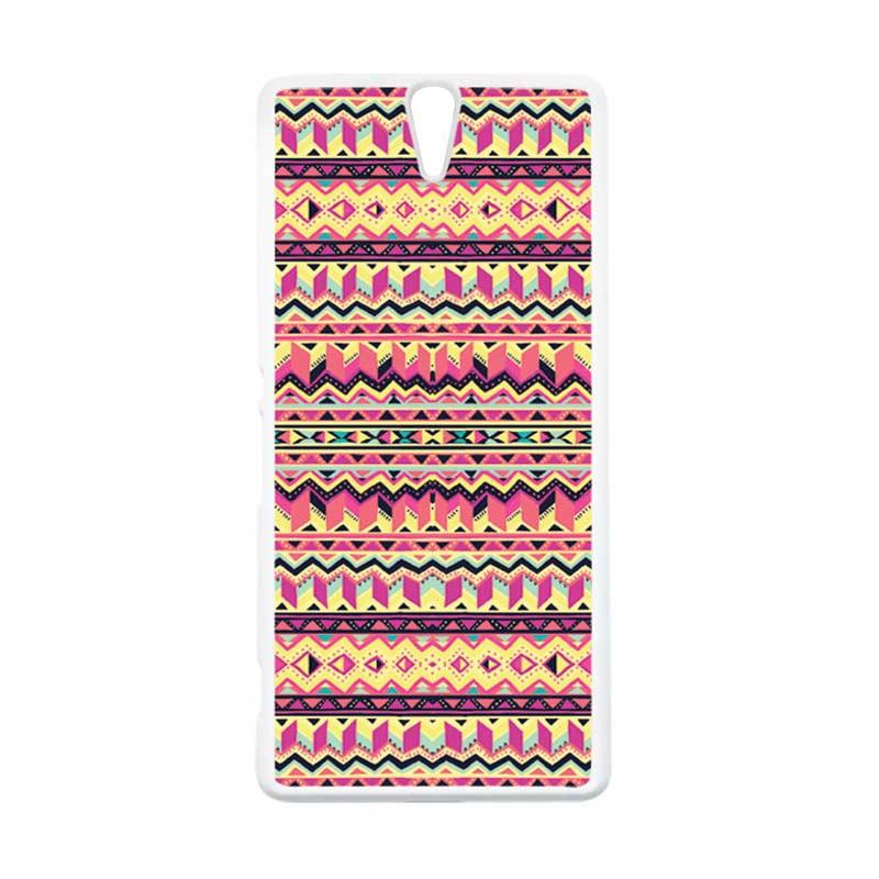 harga CARSTENEZIO Motif Batik Tribal 14 Hardcase Casing for Sony Xperia C5 Ultra Or Sony Xperia C5 Ultra Dual - Putih Blibli.com