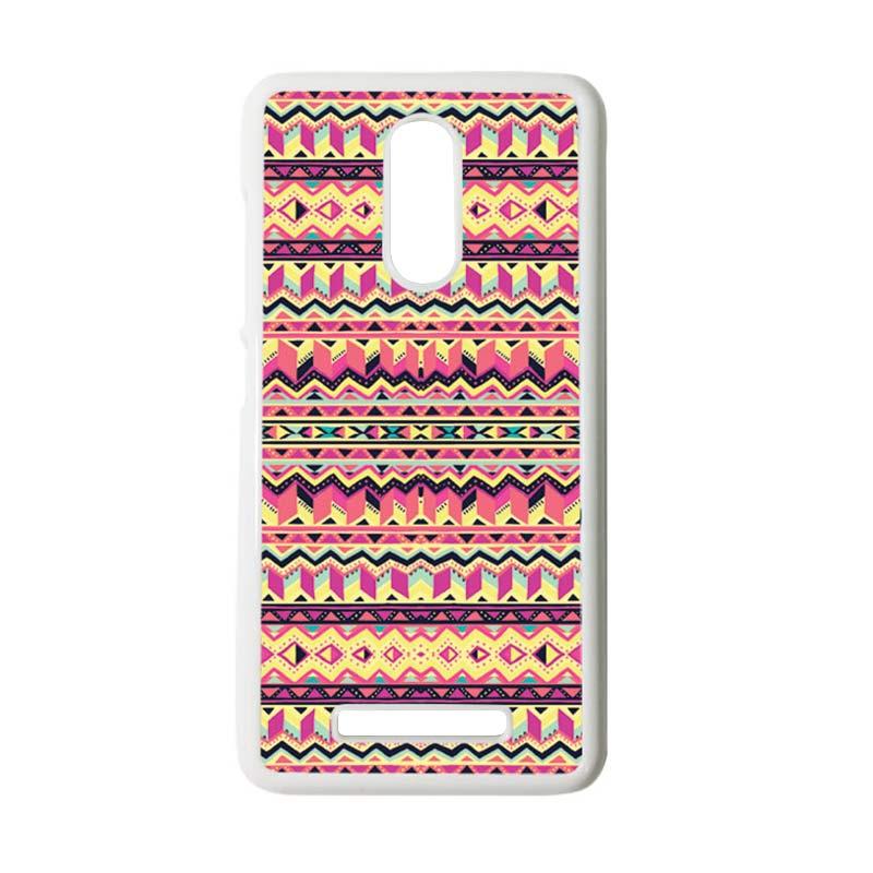 harga CARSTENEZIO Motif Batik Tribal 14 Hardcase Casing for Xiaomi Redmi Note 3 or Redmi Note 3 Pro - Putih Blibli.com