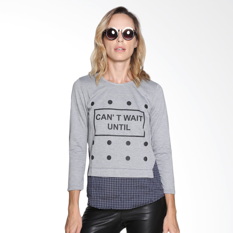 Carte Cant Wait Until Shirt Atasan Wanita - Grey