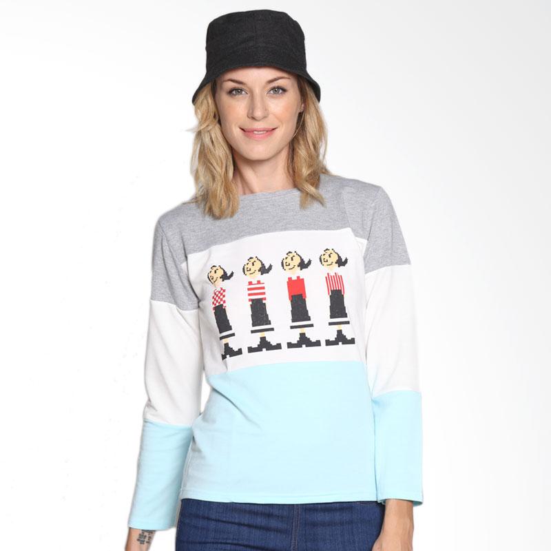 Carte Olive Cozy Long Sleeve T-shirt Atasan Wanita - Misty Grey