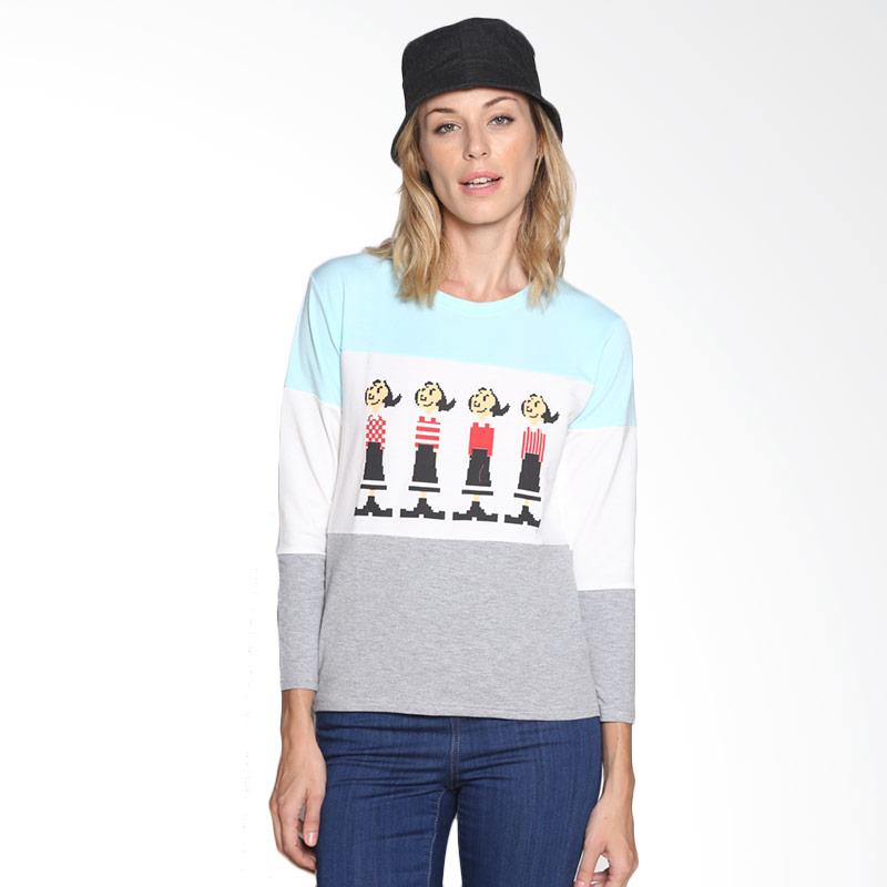 Carte Olive Cozy Long Sleeve T-shirt Atasan Wanita - Tosca