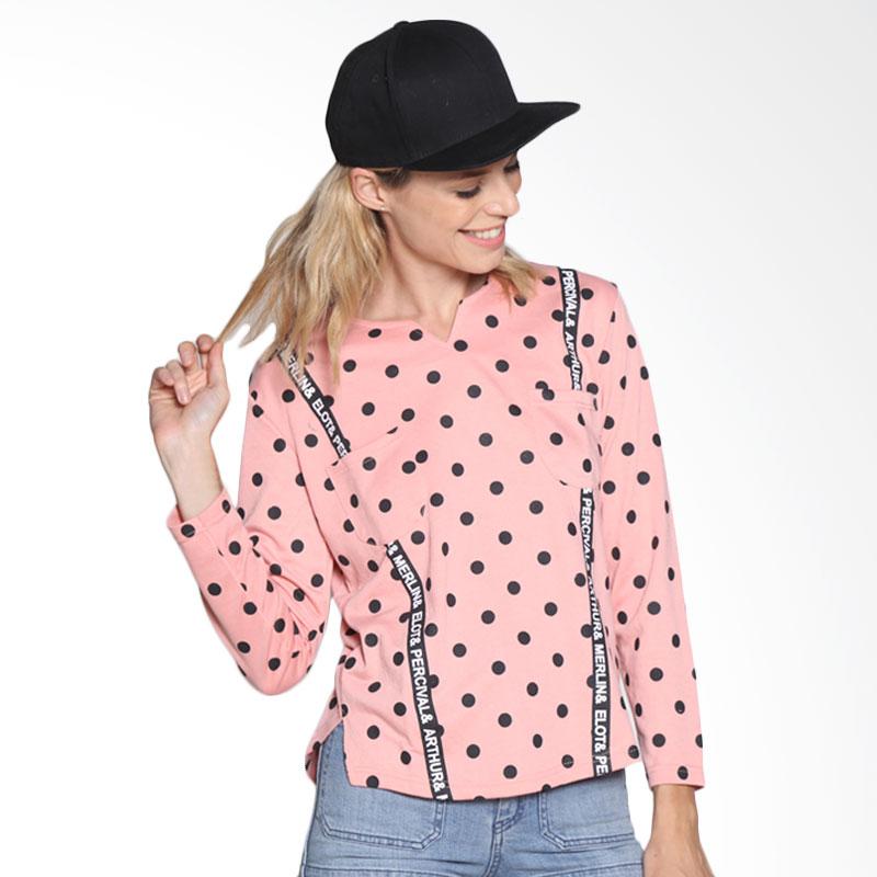 Carte Polkadot suspender Shirt - peach