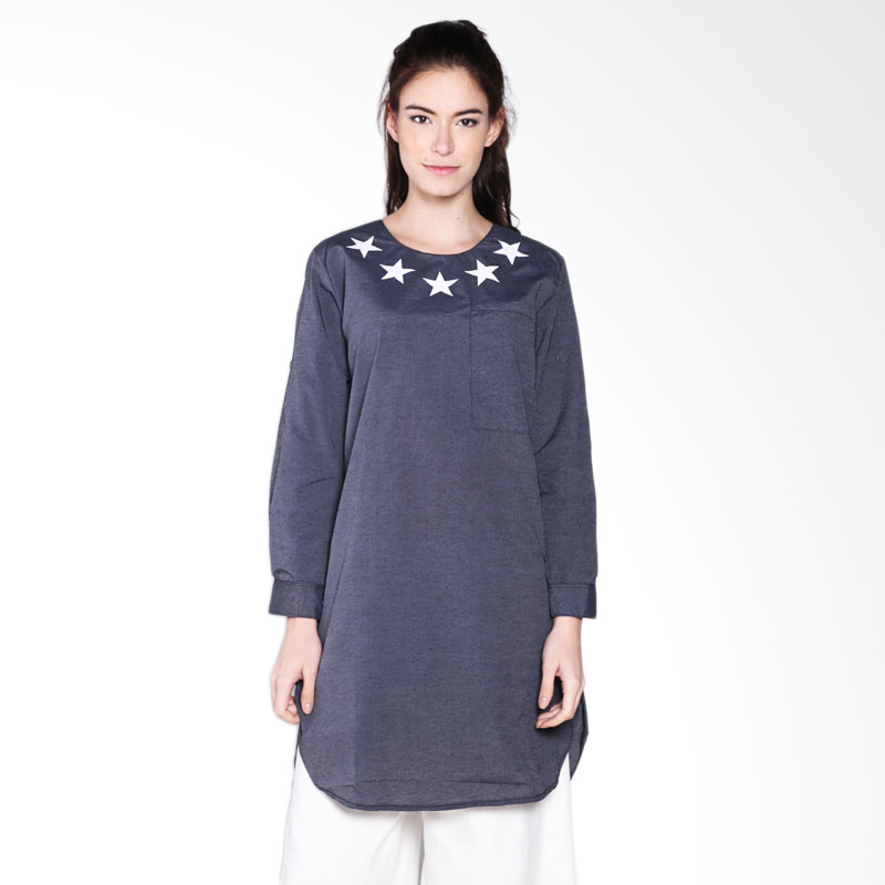 Carte Star Long Top - Black