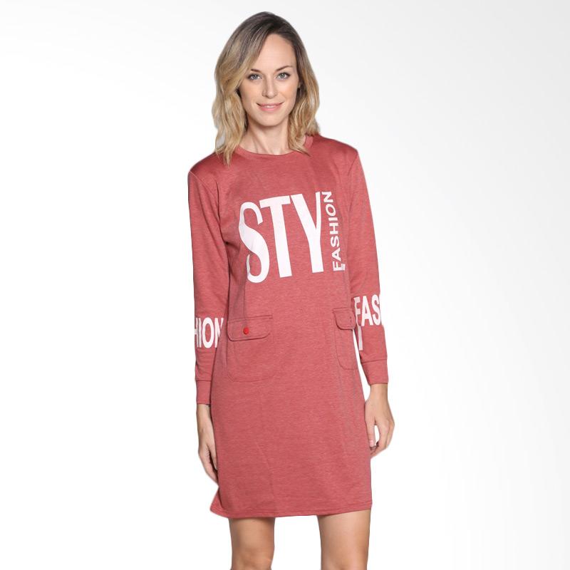 Carte Sty Shirt Dress - Red