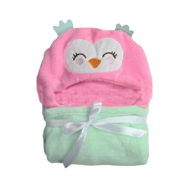Carter Fluffy Coral Fleece Owl Selimut Bayi - Pink