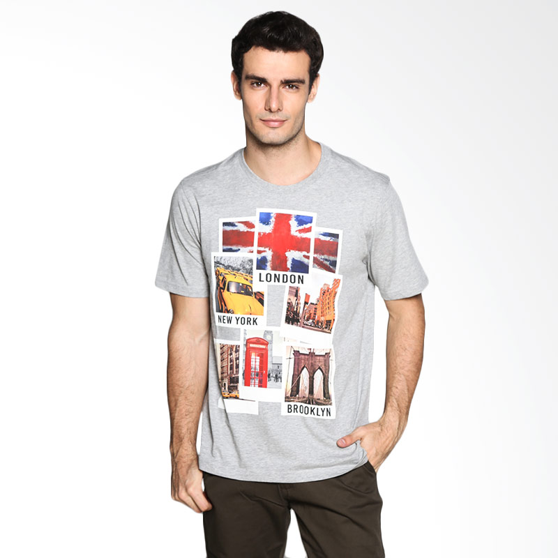 Carvil Man Polaroid 01 T-Shirt - Misty Extra diskon 7% setiap hari Extra diskon 5% setiap hari