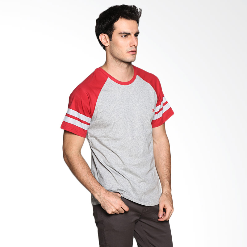 Carvil Man RAG Stripe SSC T-Shirt - Light Grey Red Extra diskon 7% setiap hari Extra diskon 5% setiap hari Citibank – lebih hemat 10%