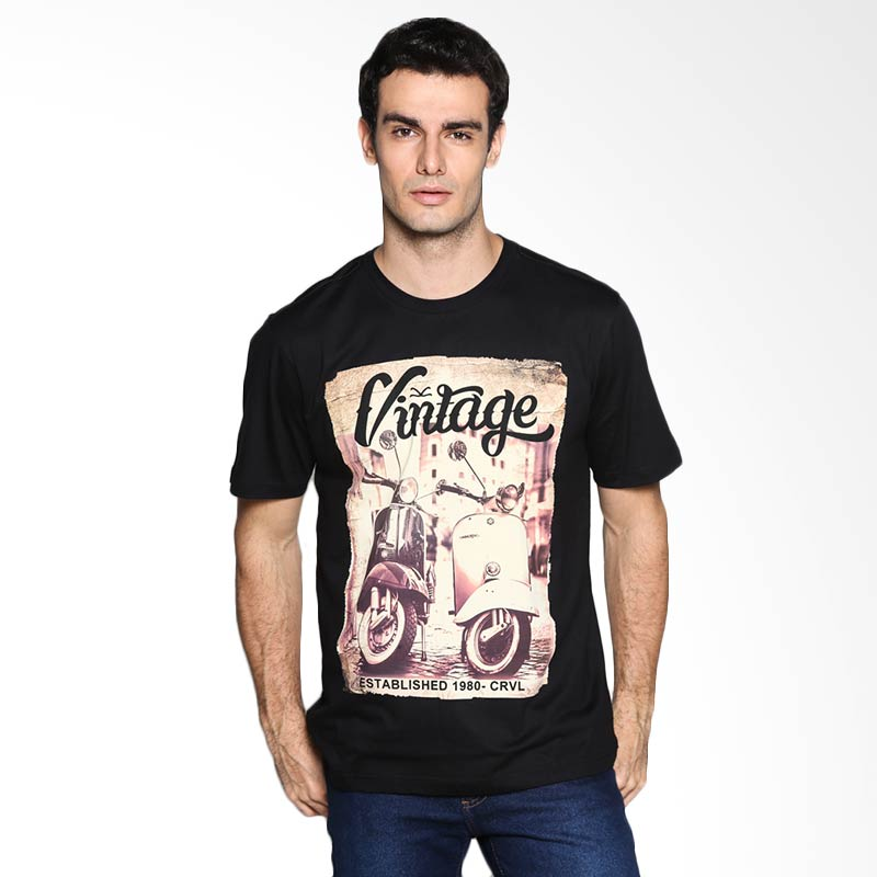 Carvil Man Vintage MOD 02 T-Shirt - Black Extra diskon 7% setiap hari Extra diskon 5% setiap hari Citibank – lebih hemat 10%