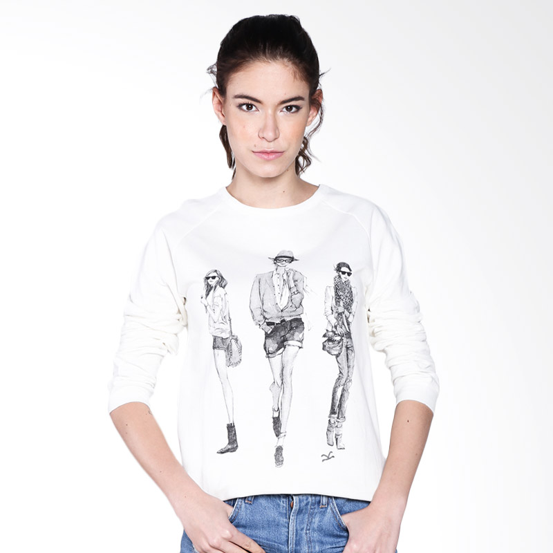 Carvil Sixty 10 Ladies Sweater - White