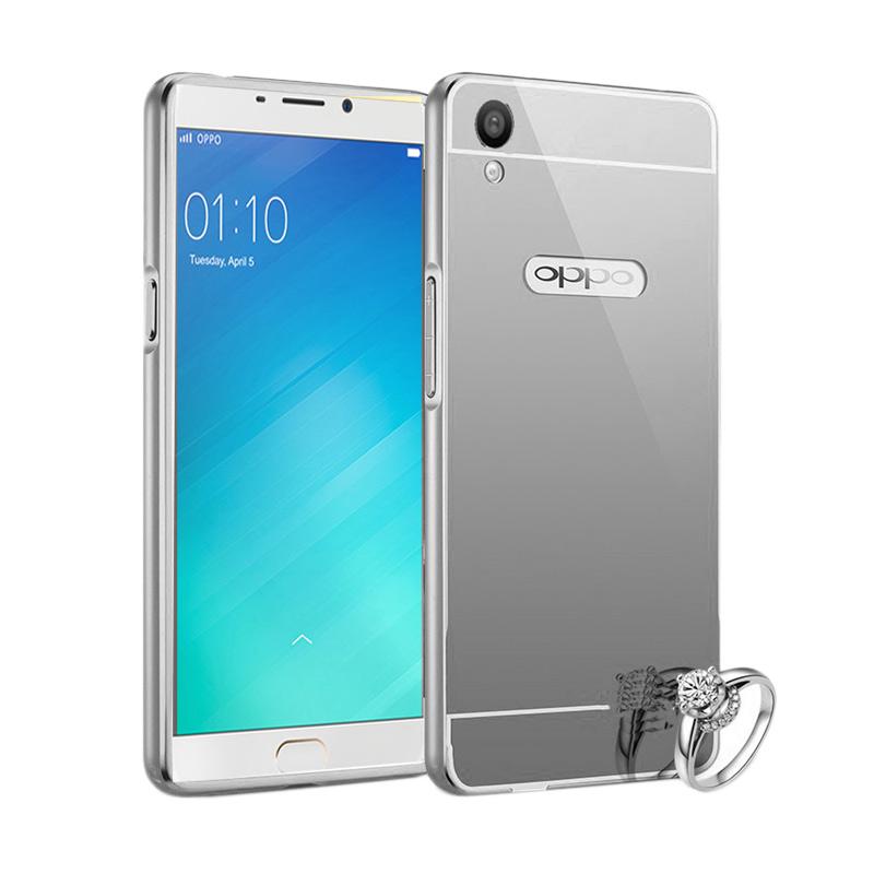 Best seller Case Mirror Bumper Casing for Oppo F1 Selfie Expert - Silver