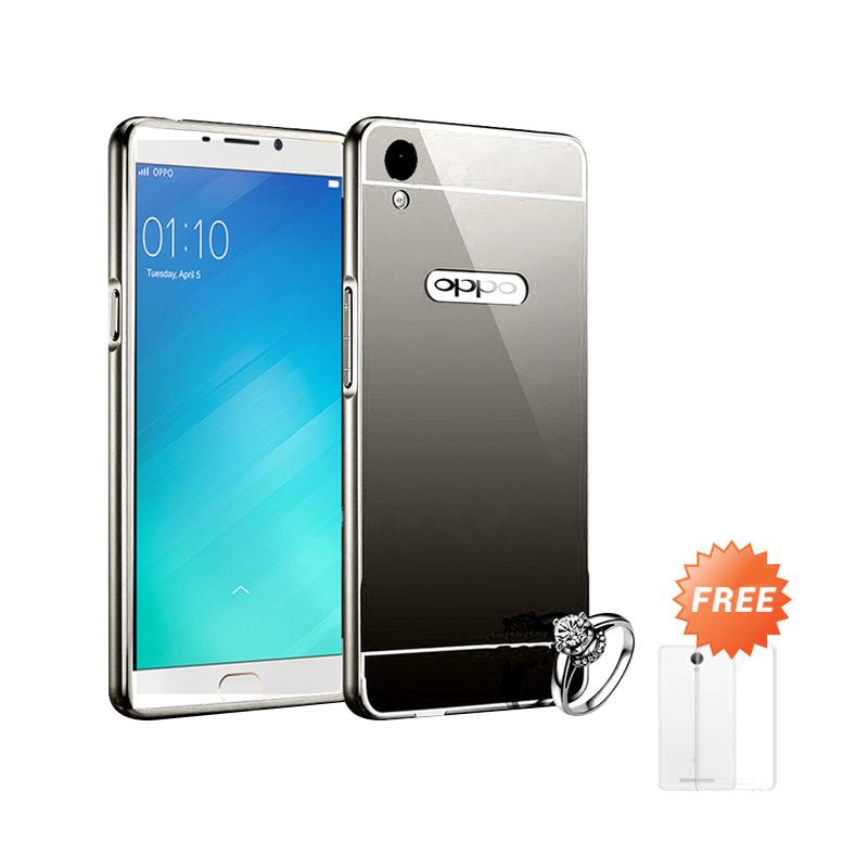 Best Seller Case Mirror Bumper for Oppo F1 Plus Selfie Expert - Black + Free Ultrathin