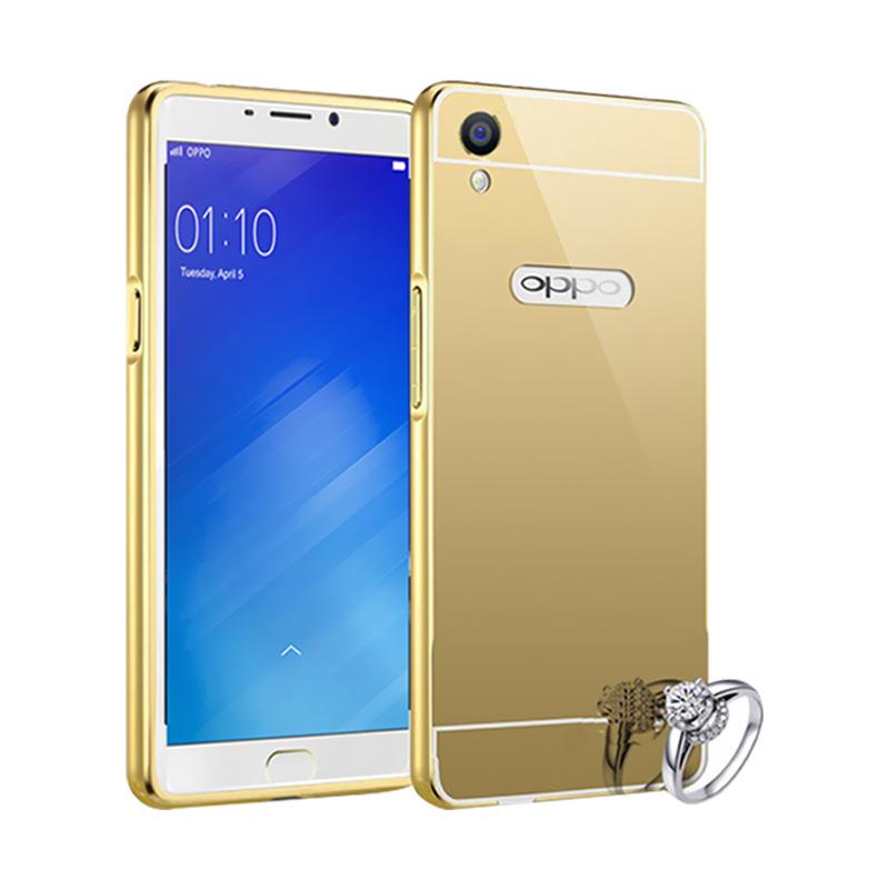 Best Seller Case Mirror Bumper for Oppo F1 Plus Selfie Expert - Gold
