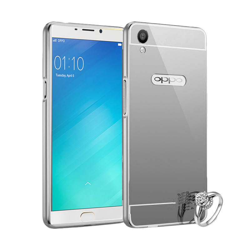 Best Seller Case Mirror Bumper for Oppo F1 Plus Selfie Expert - Silver