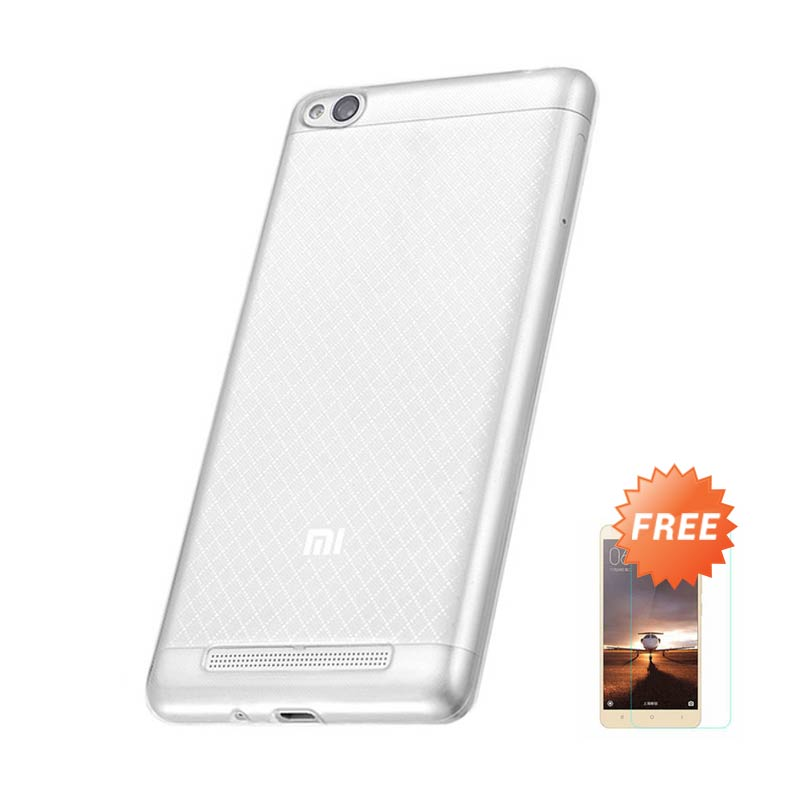 Case Aircase Ultrathin Casing for Xiaomi Redmi 3 - Clear + Free Tempered Glass