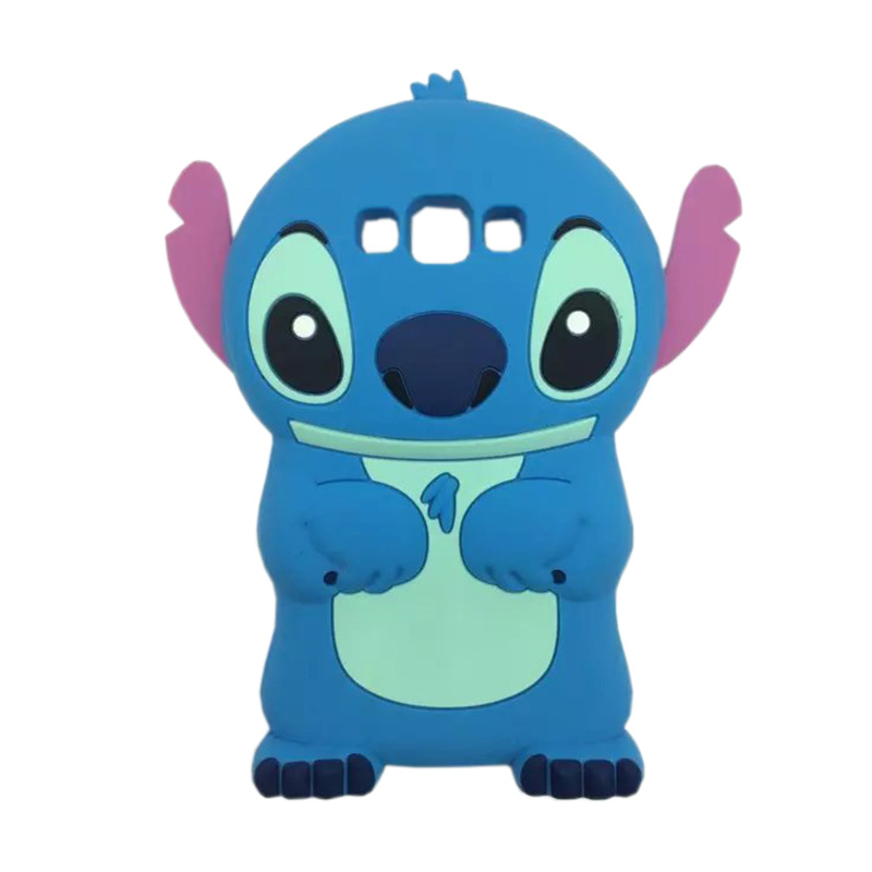Case Boneka Kartun Karakter Stitch Softcase Casing for Samsung Galaxy J5 J500 [Silicon/3D] Blue